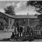 School Children outside Palgrave School