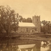St Peters church and Pond circa 1915