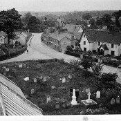 View from church tower - Rose Lane