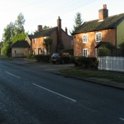 Taken in January 2008 shows houses in Lion Road near to the Church crossroads.