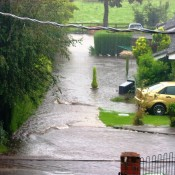 August 2008 heavy rain fell on Palgrave which resulted in a flash flood affecting Lows Lane