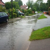 12th August 2008 heavy rain fell on Palgrave which resulted in a flash flood affecting Lows Lane